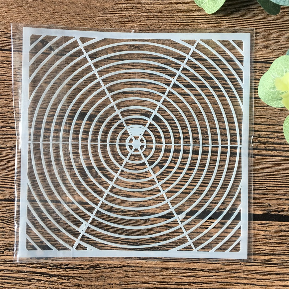13cm Geometry Round DIY Craft Layering Stencils Wall Painting Scrapbooking Stamping Embossing Album Card Template