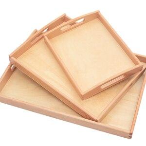 Деревянный поднос Монтессори, практичные материалы Монтессори, развивающие сенсорные игрушки для детей, Обучающие приспособления MD1844H