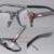 Nova prescripiton armação de Plástico óculos de armação homens e mulheres crânio moda grande estilo aro completo com couro templo eyewear 2093