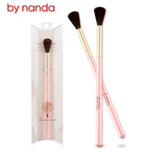 BY NANDA 1pcs BB Wood HandleHorse Hair Professional Angle Eye Shadow Brush