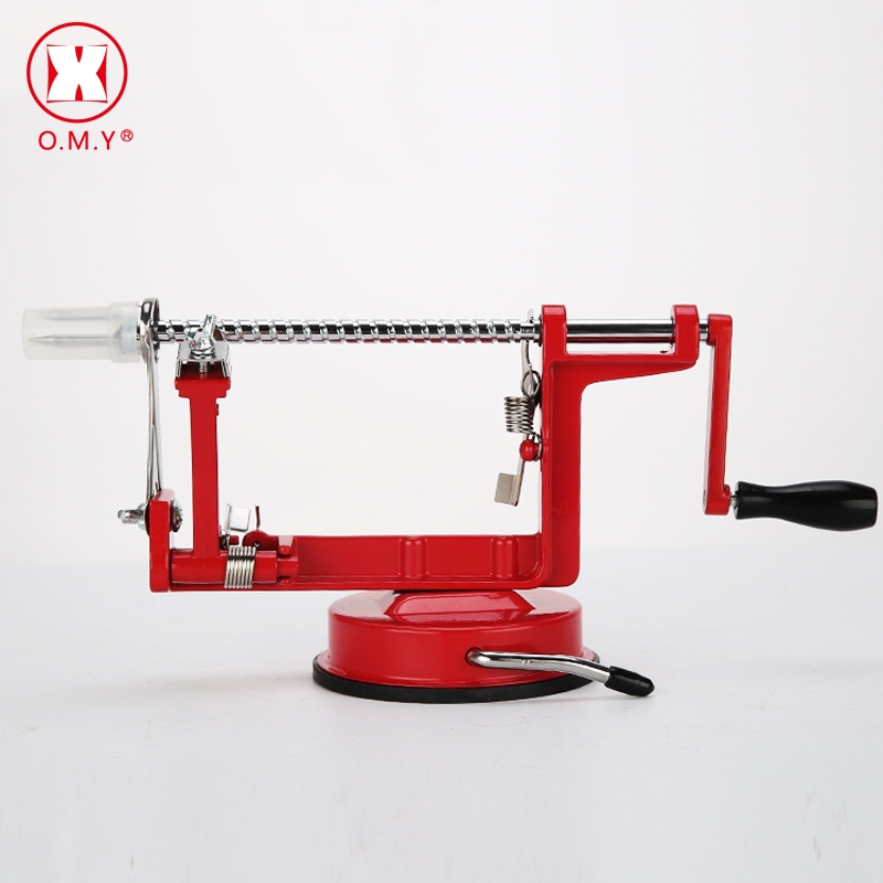 O.M.Y 3 In 1 Apple Peeler Fruit Peeler Slicing Machine / Stainless Steel Apple Fruit Machine Peeled Tool Creative Home Kitchen