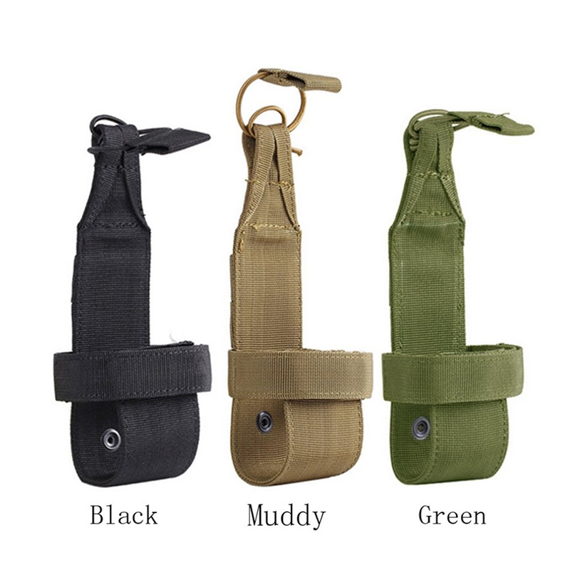 Portable Outdoor Nylon Travel Kettle Bag Tactical Water Bottle Pouch Nylon Adjustable Magic Tape Military Cover Holster
