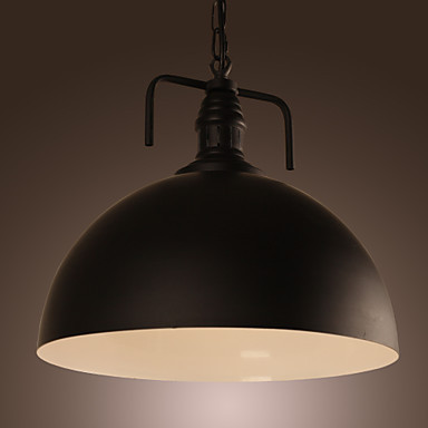 60w Retro Loft Style Edison Vintage Industrial Pendant Light Lamp For Home Lighting,with Black Hemisphere Shade