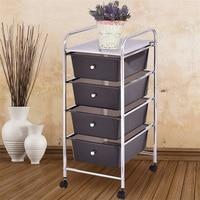 Plastic Household 4 Drawers Organizer Metal Rolling Storage Cart HW55240