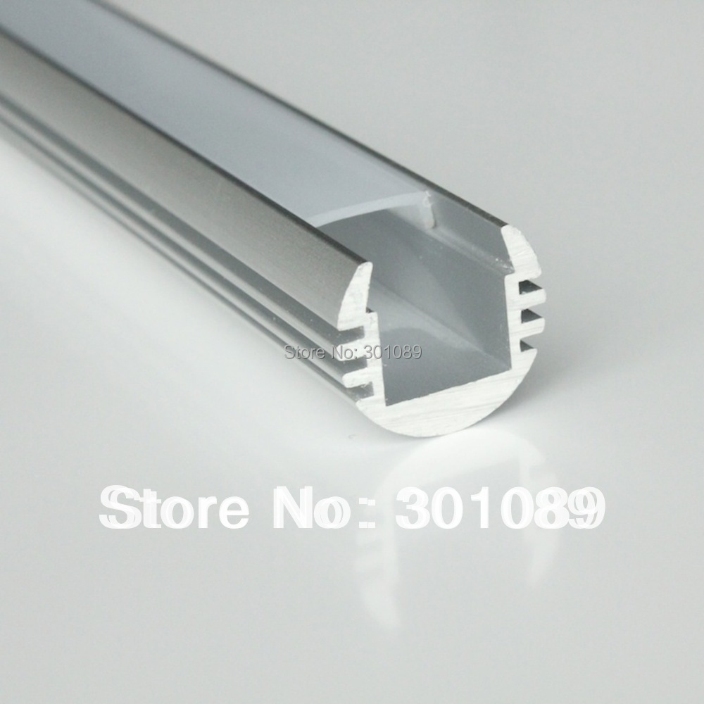 10m (10pcs) A Lot, 1m Per Piece, LED Profile Aluminum, AP1818 Round Shape Clear Cover Or Milky Diffuse Cover