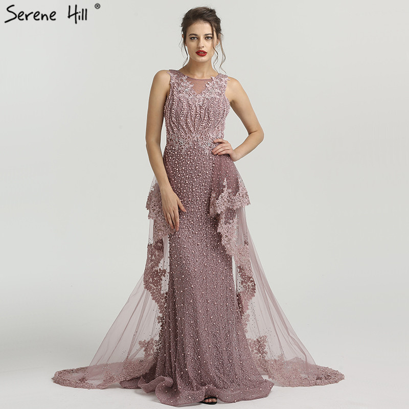 Dropwow New Mermaid Sleeveless Sexy Evening Dresses Pearls Fashion ... d44799aa12a2