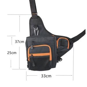 Image 3 - Fishing Sling Pack Shoulder Sling Fish Bag Canvas Waterproof Lure Tackle Bag Waist Pack Multi Purpose Bag for Fishing