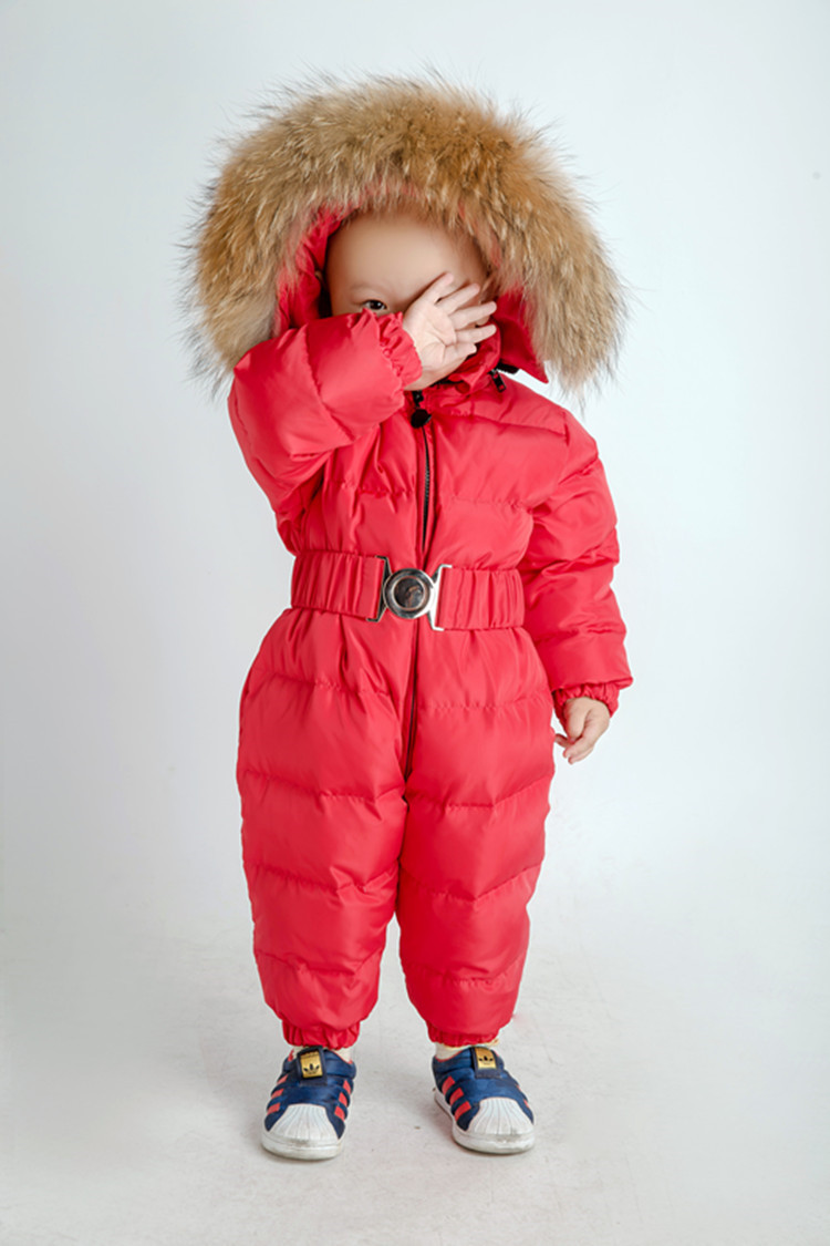 -15 Russian Winter Snowsuit 2018 Boy Baby Jacket 80% Duck Down Outdoor Infant Clothes Girls Climbing For Girl Kids Jumpsuit 1~4y