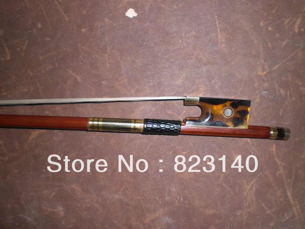 1 PCs 4/4 Quality Brazil wood Violin bow HAWKSBILL FROG 1009#