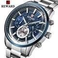 Luminosa superior de la marca de lujo de relojes para hombre impermeable negocio reloj hombre cronógrafo de cuarzo reloj de pulsera hombre reloj Relogio Masculino