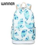 WESTCREEK Brand Printed Backpack Women Leaves Bagpack Canvas Schoolbags For Teenage Girls Rucksuck Laptop Backpack Travel