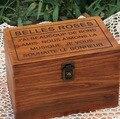 Todos caixa de bloqueio de madeira com tampa Zakka estilo retro caixa de madeira criativo caixa de armazenamento do vintage mesa orgainzer