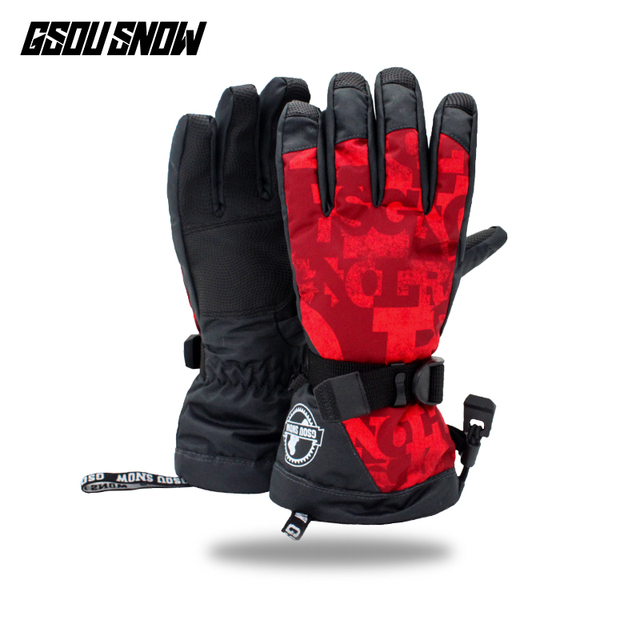 6af8162ba 2019 Gsou Snow winter ski gloves women snowmobile snowboard gloves camping  ladies mountain skiing gloves gants