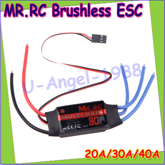 1 piece MR.RC 20A 30A 40A Brushless ESC Electronic Speed Controller for F450 RC Multicopter Quadcopter Free shipping flycolor w fw030004 b1b1 01 20a esc speed controller for 250 300 rc quadcopter