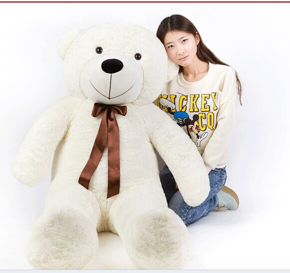 Stuffed animal 180cm white Teddy bear plush toy soft doll throw pillow gift w1693 180cm huge big tedy bear birthday christmas gift stuffed plush animal teddy bear soft toy doll pillow baby adult gift juguetes