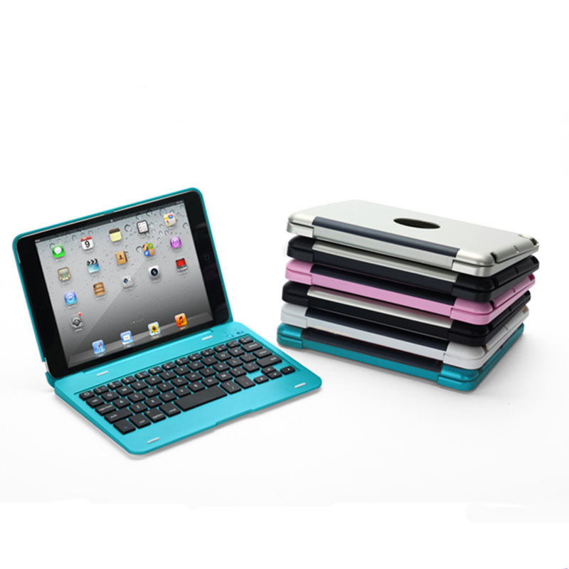 New 2in1 For iPad Mini 1 2 3 4 Bluetooth 3.0 Wireless Keyboard Case Cover Dustproof Fold ...