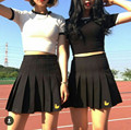 2016 Duck Embroidered Pleated College Wind Causal Cute Fresh Short Female Skirt