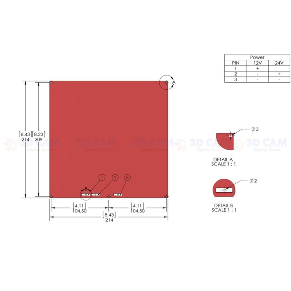 hight resolution of swmaker mk2b pcb heated bed heat bed reprap for 3d printer 12v 24v wiring thermistor in 3d printer parts accessories from computer office on