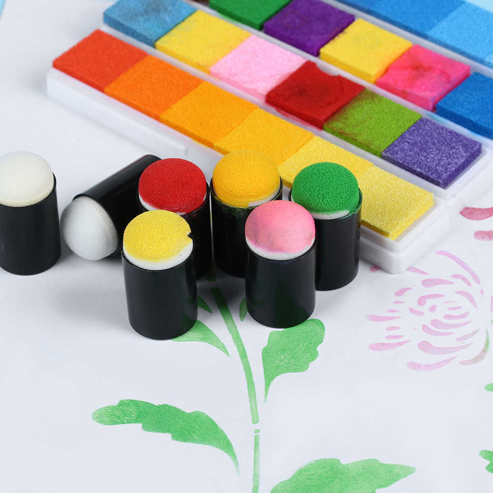 4Pcs/Set Sponge Daubers For Finger Daubers Sponger Foam Applying Ink Chalk Staining DIY Crafts Scrapbooking Painting Supplies