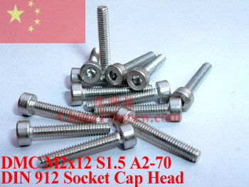 Stainless Steel screws M2x12 DIN 912 A2-70 Polished ROHS 100 pcs titanium screws m4x20 din 912 hex 3 0 driver polished