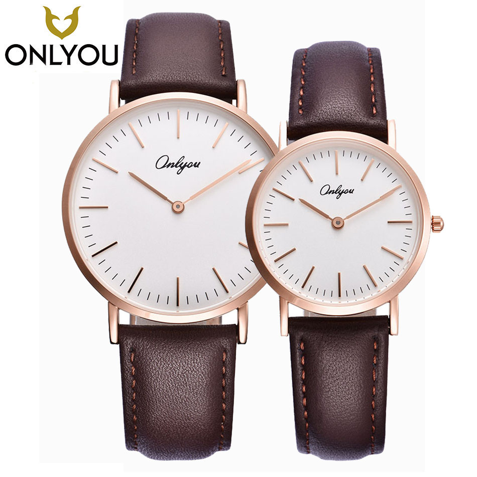 ONLYOU Lovers Watches Women Fashion Watch 2017 Men Casual Quartz Clock Ladies Dress Waterproof Wristwatches Wholesale onlyou men s watch women unique fashion leisure quartz watches band brown watch male clock ladies dress wristwatch black men