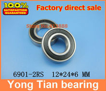 High quality deep groove ball bearing 6901 2RS 6901 2RS 61901 2RS 6901RS 6901RZ 12*24*6 mm 50pcs/lot