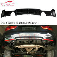 Replacement ABS Plastic Rear Bumper Diffuser Lip for BMW F32 F33 F36 4 Series 420i 428i 430i 435i with M package Sport Line