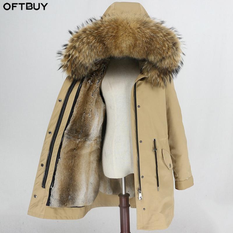 OFTBUY Waterproof Parka Winter Jacket Women Real Fur Coat Natural Fur Collar Hood Rabbit Fur Liner Long Outerwear Streetwear-in Real Fur from Women's Clothing    1