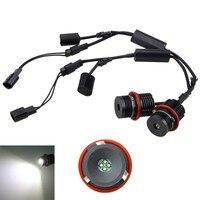 2PCS 80W Error Free LED Angel Eyes Halo Ring Light Bulbs For E39 E53 E60 E63