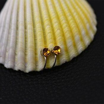 Clip Earrings 17 Colors Crystal Fake piercing Zinc Alloy Ear clips 4mm crystal 4