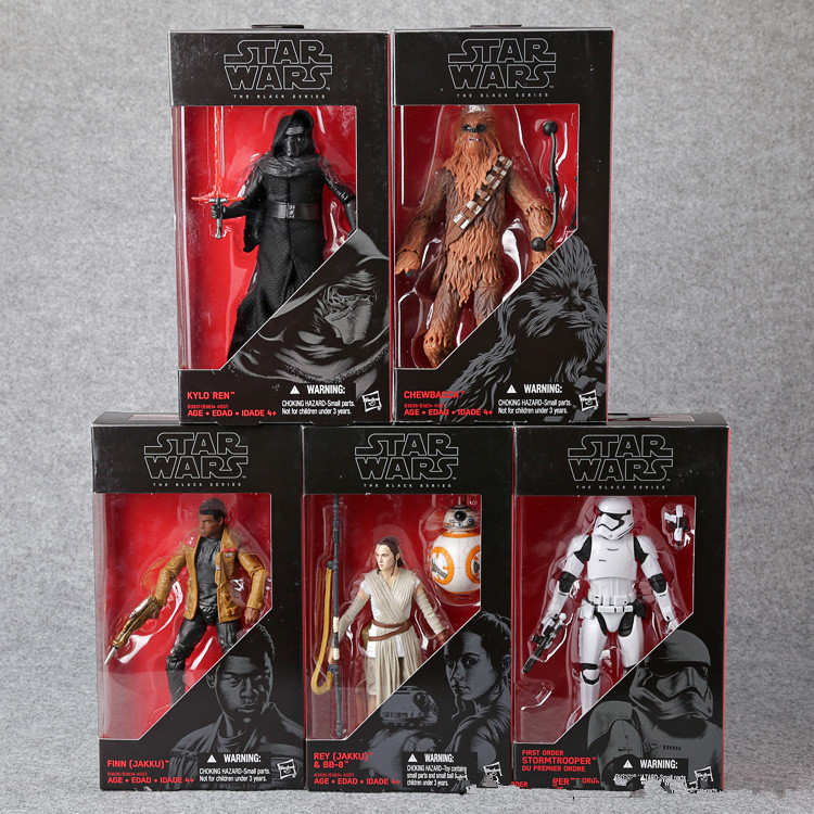 ФОТО Star Wars The Force Awakens KYLO REN Finn Rey & BB-8 Stormtrooper Chewbacca PVC Action Figures Collectible Toys 5pcs/set