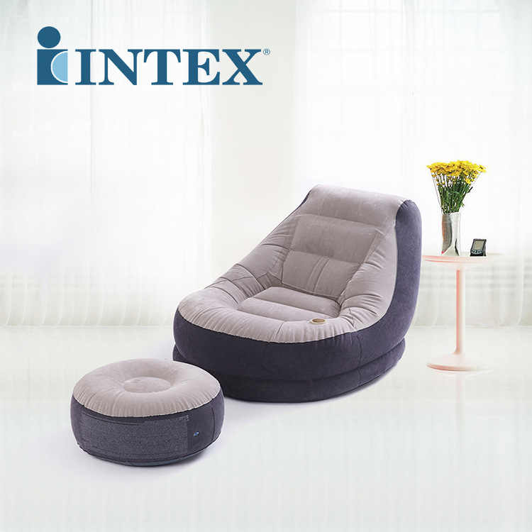 Admirable New Intex Inflatable Flocked Single Sofa Lazy Sofa Bed Siesta Lounge Chair With Footstool 68564 Onthecornerstone Fun Painted Chair Ideas Images Onthecornerstoneorg