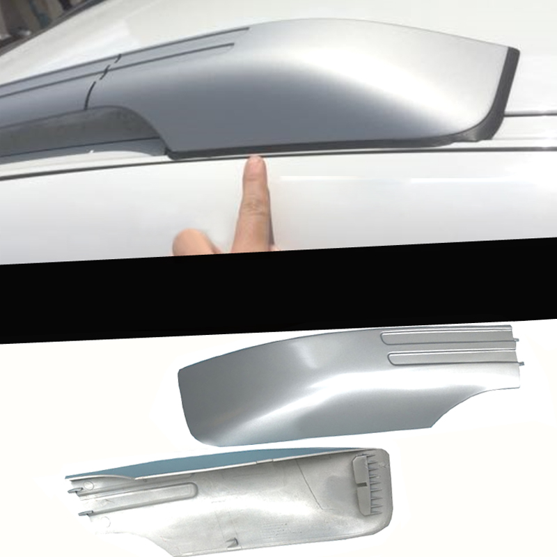for BMW X6 E71 2008 2014 Silver Exterior Car Auto Roof Rack Rail End Cover Shell Cap Replacement 4PCS