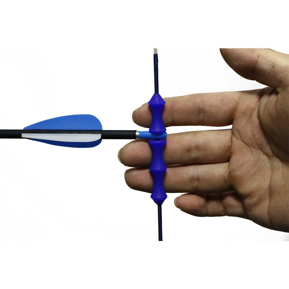 1 زوج القوس سلسلة كاتم للصوت استقرار سيليكون فنجر حامي ل مجمع القوس/قوس منحني الصيد هدف الرماية اطلاق النار