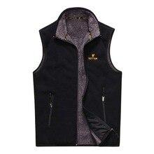 Осенне-зимний мужской жилет теплый флисовый жилет куртка без рукавов повседневный жилет мужская одежда плюс размер M-3XL