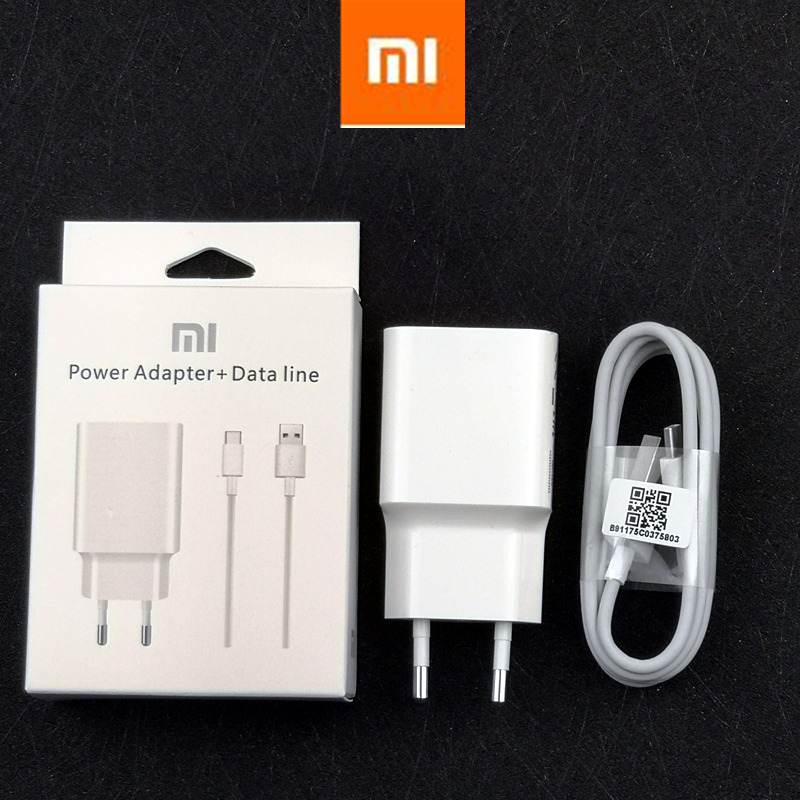 Original Xiaomi Mi 9 Fast Charger Qc 4.0 27w Usb Wall Quick Charge Adapter Usb 3.1 Data Cable For Mi9 Se Mi 8 7 F1 Mix 2 2s 3 Mobile Phone Accessories