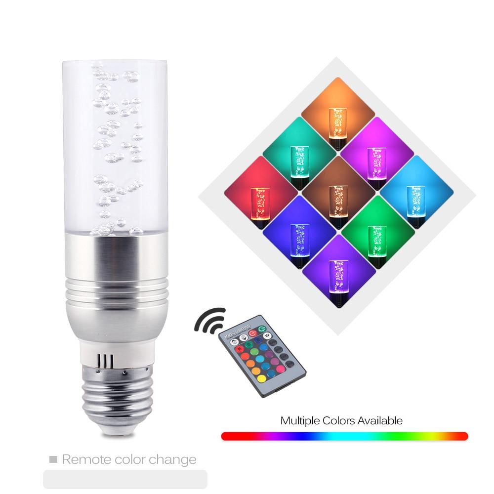 RGB 16 color change led bulb light 3W E27 led light lamp AC85-265V crystal led spot light with remote controller e27 7w rgb led bulb lamp light 16 color ac85v 265v ir remote