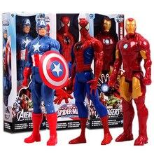"""12 """"30 CM Marv Super Hero Avengers Action Figure Jouet Captain America, Iron Man, Wolverine, Spider-Man, Raytheon Modèle Poupée Enfants Cadeau"""