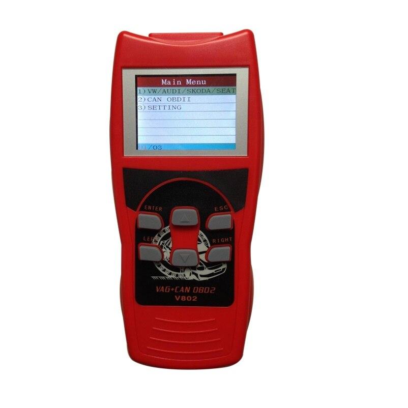 VAG UDS K + PEUT Coloré Écran LCD Professionnel Voiture Outil De Diagnostic Lire Scanner Auto Diagnostic V802
