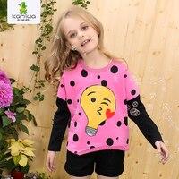 KAMIWA 2015 New Children S Clothing 100 Regular Sleeve Cotton T Shirt Casual Top Basic O