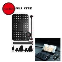 1 unid Pegajosa Del Coche Anti Slip Mat Titular de Soporte de pie con USB Cargador de Automóvil Accesorios Interiores para el Teléfono Móvil mp4 GPS Pad