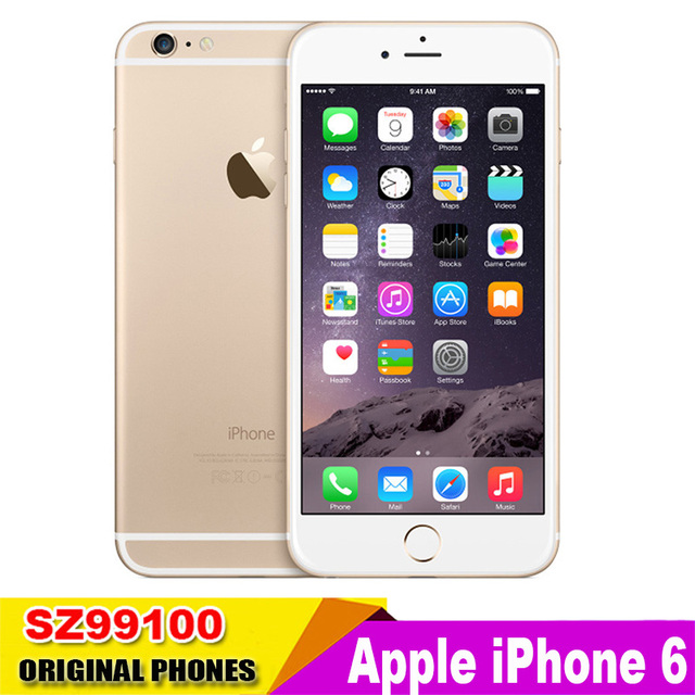 Разблокирована Apple iPhone6 iphone 6 Dual Core 4.7 дюймов 1.4 ГГц 8.0MP Камера 3 Г WCDMA 4 Г LTE Используется Телефон
