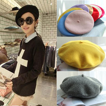 Women Ladies Femme Soft Warm Classic Berets Hats Ski Caps Autumm Winter Chapeau