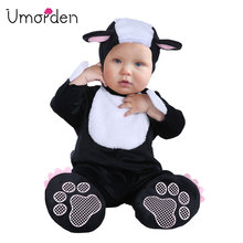 Umorden Carnival Halloween Costumes Toddler Infant Baby Animal Mephitis Costume Cosplay for Girl Boy Fancy Dress Jumpsuit