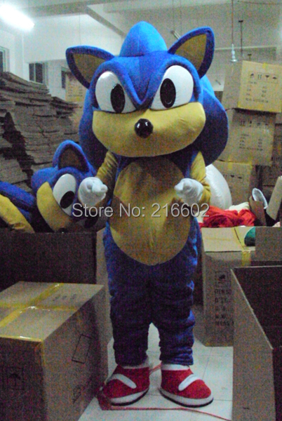 Nouveau Sonic le hérisson mascotte costume Sonic mascotte costume Cosplay costume livraison gratuite