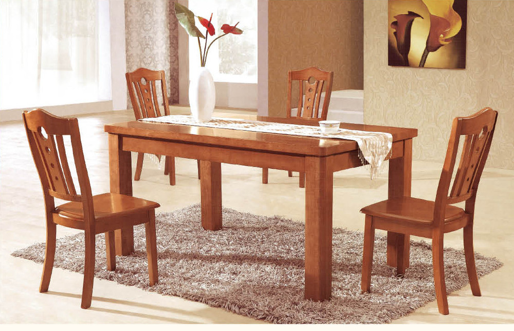 Factory direct oak dining tables and chairs with a turntable table solid wood dining table and - Dining rooms direct ...