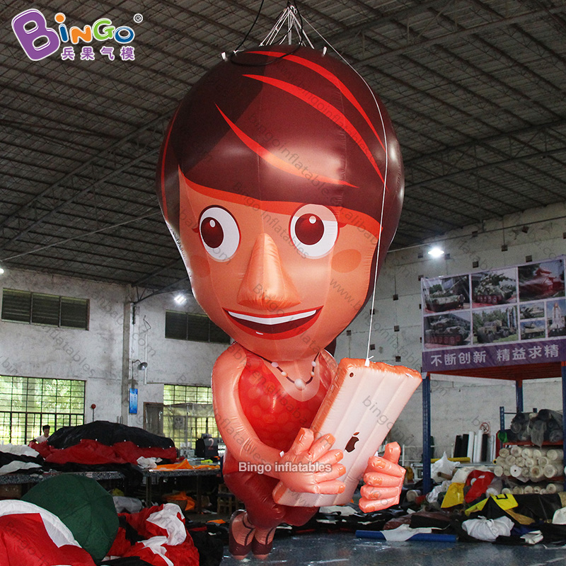 Personalized 11.5 Feet Height Big Inflatable Anime Girl / 3.5m Tall Inflatable Cartoon Girl Toy To Be Renowned Both At Home And Abroad For Exquisite Workmanship, Skillful Knitting And Elegant Design