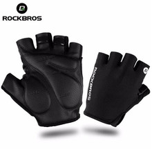ROCKBROS Cycling Gloves Half Finger Bike Gloves Shockproof Breathable MTB Mountain Bicycle Gloves Men Sports Cycling