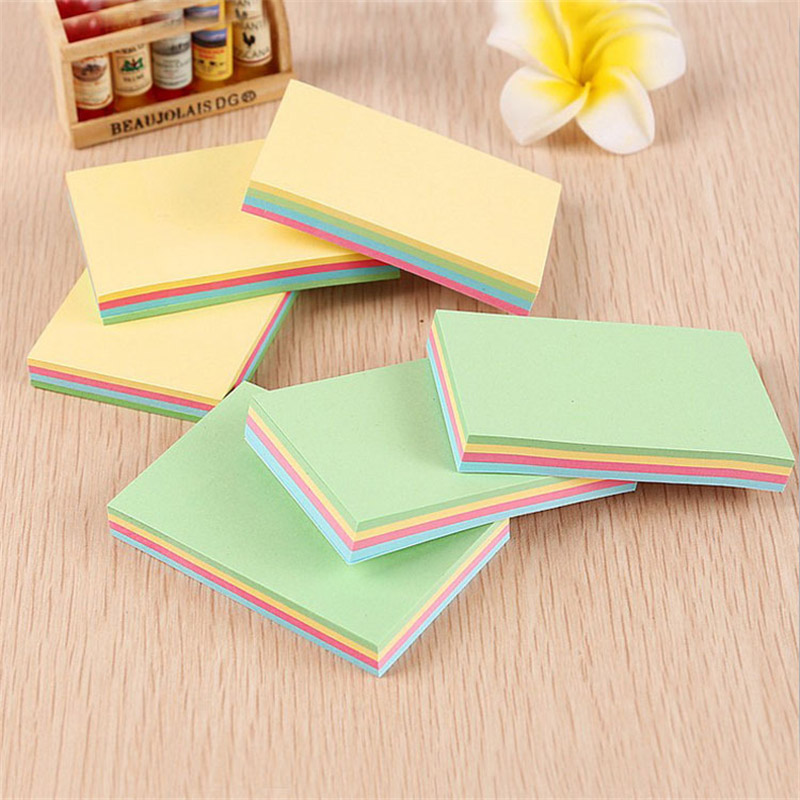 Cute Kawaii Colorful Memo Pad Square Post It Note Sticky Paper For Kids Student Korean Stationery Student 380