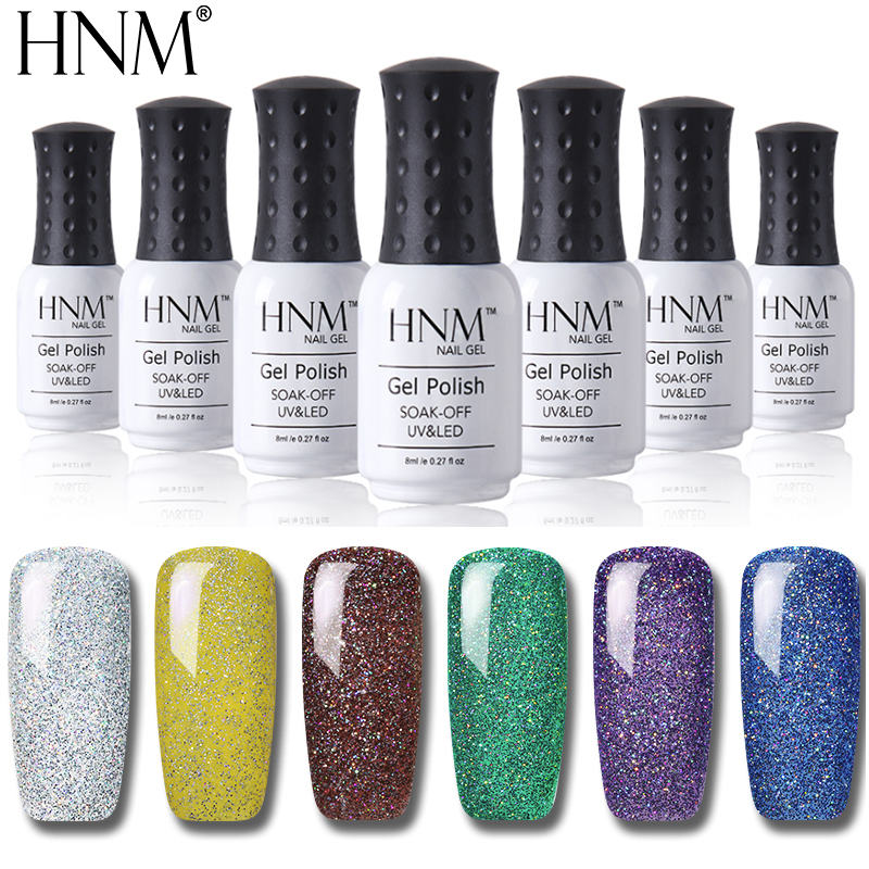 HNM Neon Nail Gel 8ML UV LED Glitter Glue Paint Gellak